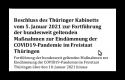 Beschluss des Thüringer Kabinetts vom 5. Januar 2021
